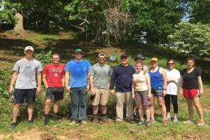 Stuart Law Firm Takes Part in Raleigh Parks & Recreation Department's Invasive Species Removal Project